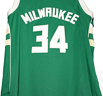 93d695237 Giannis Antetokounmpo Milwaukee Bucks Signed Autographed Green  34 Jersey  Size 50 JSA COA. Loading Images... Back. Double-tap to zoom