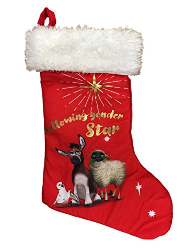 The Star Movie Red Following Yonder Star Christian Nativity Christmas Stocking