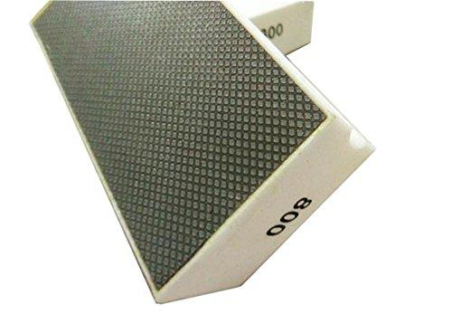 20 pieces Professional Diamond Grinding Pads Diamond Polishing Discs 800 # 90x55mm