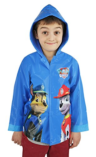 Paw Patrol Boys Blue Raincoat - size 6