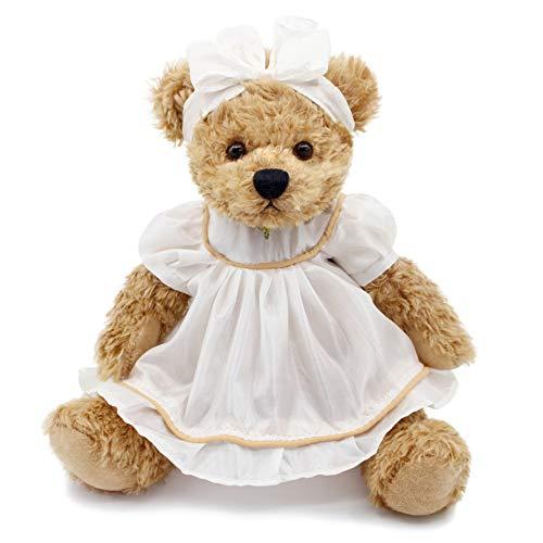 (Oitscute Small Baby Teddy Bear with Cloth Cute Stuffed Animal Soft Plush Toy 10