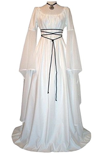 Plus Size Masquerade Costumes (Women's Halloween Cosplay Costume Renaissance Medieval Irish Gothic Victorian Dress)