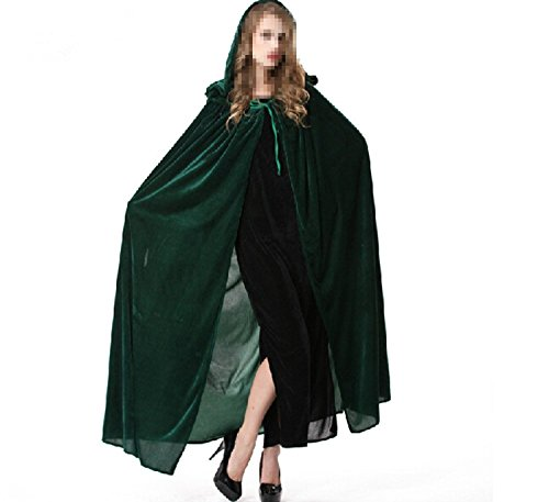 [Group® Christmas Day Cosplay Women's, the Glamour Witch Cloak Costume (Green)] (Glamour Witch)