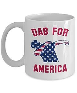 Dab for America Mug - Funny American Flag Pride Collection