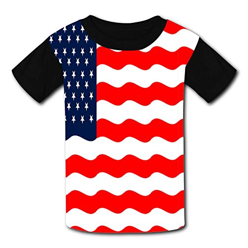 Flag-Flying United States Child Short Sleeve Fashion