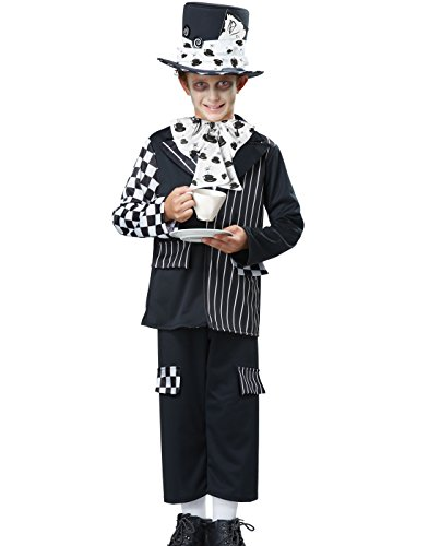 California Costumes Mad Hatter Child Costume, Black/White, Large ()