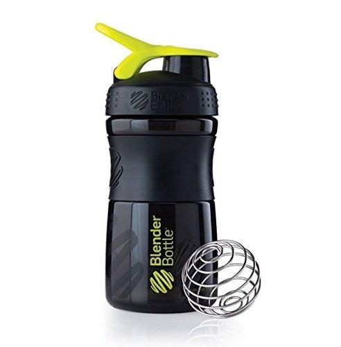 SportMixer Blender Bottle Protein Shaker Cup 20oz BlenderBottle Sport Black/Green by SUNDESA (Blender Bottle Odor Resistant compare prices)