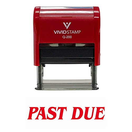 (Past Due Office Self-Inking Office Rubber Stamp (Red) - M)