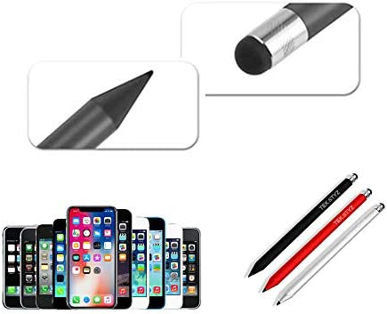 Tek Styz PRO Stylus Pen Works for ZTE Axon 10 Pro with Custom High Sensitivity Touch and Black Ink! 3 Pack-Black