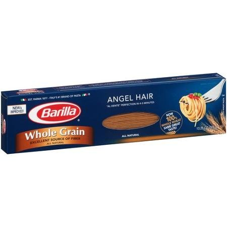 Barilla Whole Grain Angel Hair Pasta 13.25 Oz (Pack of 4) by Barilla