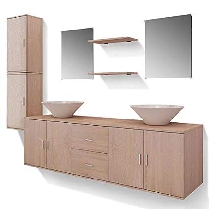 Daonanba Meuble Salle Bain Double Vasque Design Modèle 3 ...
