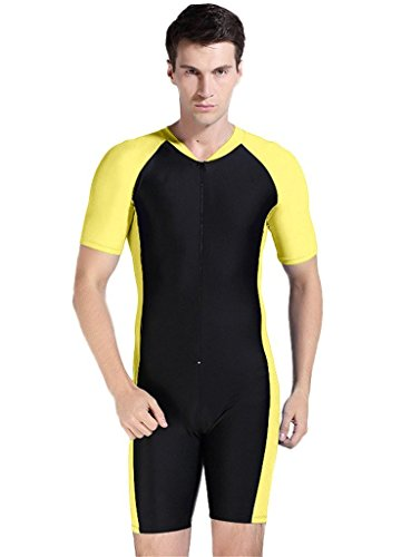 Fortuning's JDS Men's Modesty Short sleeve swimwear for Summer holiday by Fortuning's JDS®