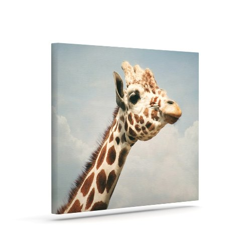 Kess InHouse Angie Turner Giraffe Animal Outdoor Canvas Wall Art, 24 by 30-Inch