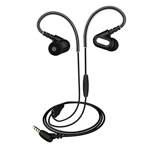 Wired Earphones in Ear Earbuds Headphones with Mic, Stereo Earbuds for Sports Running Workout Gym 3.5mm Stereo Noise Reduction Headsets