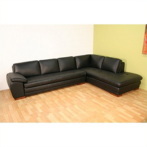 Baxton Studio Leather Sectional in Black