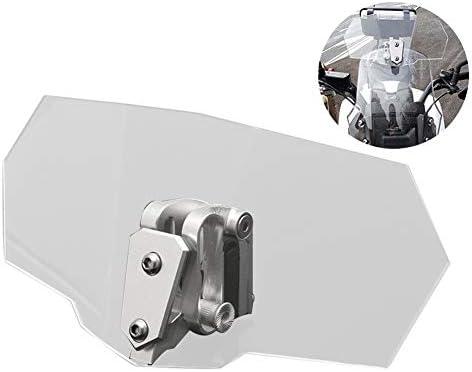 Mayouth Motorrad Windschutzscheibe Universalmotorrad Einstellbare Clip On Windschutzscheiben Verlängerung Spoiler Windschutzscheibe Zubehör Küche Haushalt