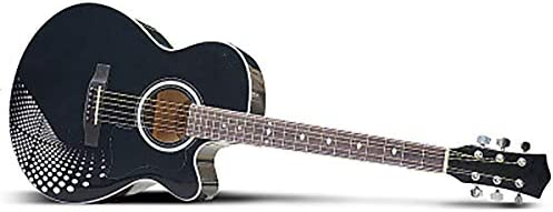 Acoustic Guitar 40-Inch Black and White Dazzling Men and Women Beginners Universal Art Guitar Series Novice Entry / Acoustic Guitar 40-Inch Black and White Dazzling Men and Women Beginners Universal Art Guitar Series Novice Entry