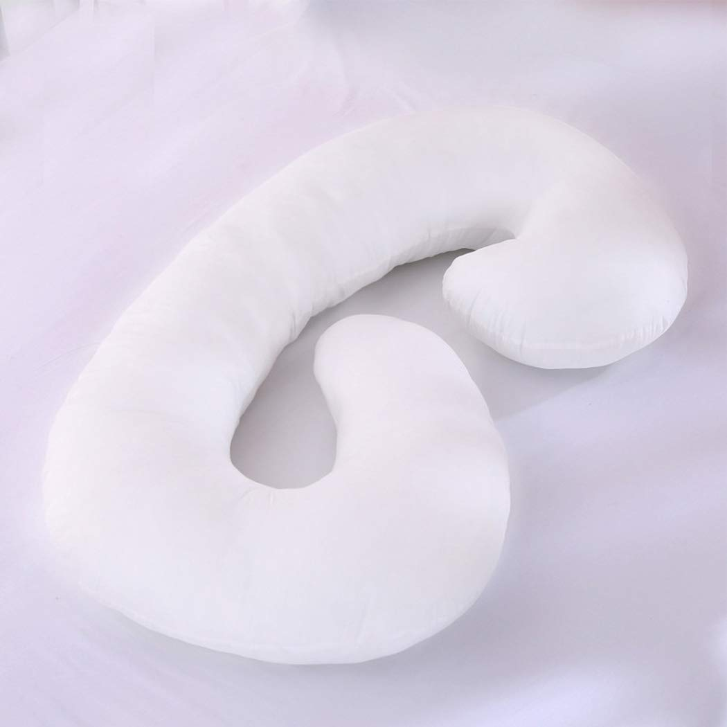 C-shaped Pillowcase Body Support Care Maternal Pregnancy Pillow, Waist Orthopedic Pillowcase For Pregnant Women, Comfort And Support. (Size : 55x28in)