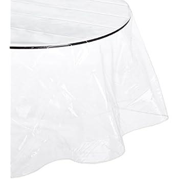 Amazon Com Carnation Home Fashions Round Vinyl Tablecloth
