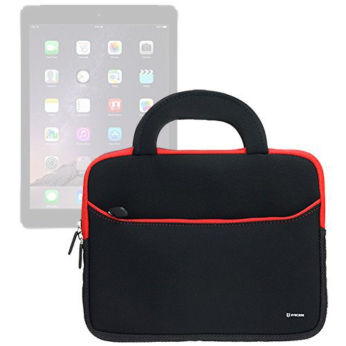 Evecase iPad Case Bag, UltraPortable Handle Carrying Portfolio Neoprene Sleeve Case Bag for Apple iPad Pro 10.5, Pro 9.7, Air 2 (iPad 6) / Air (iPad 5), iPad 4, 3, and iPad 2 - Black