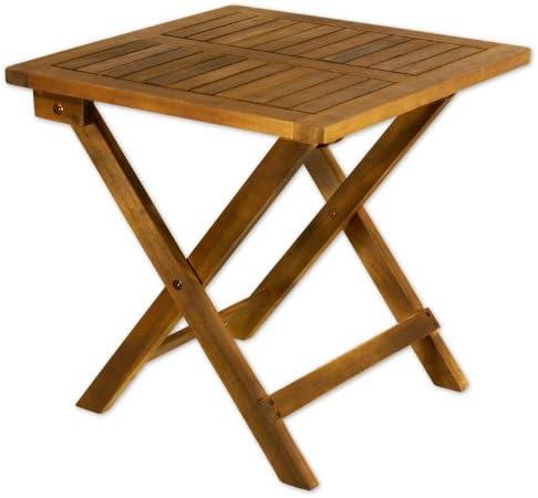 Mesa auxiliar plegable mesa de madera mesa de jardín mesa de jardín muebles de jardín: Amazon.es: Hogar