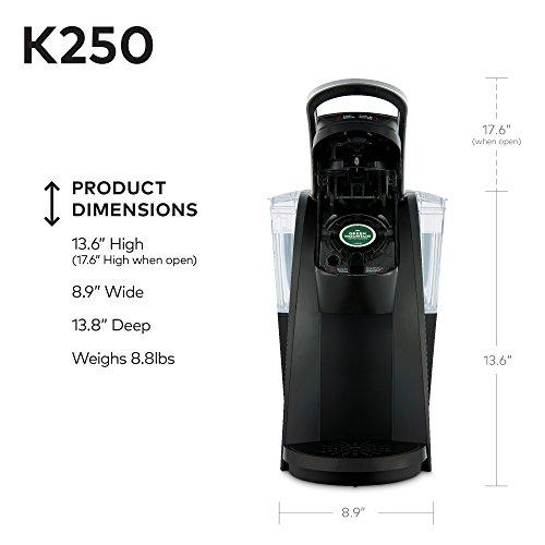 Keurig K250 Single Serve, K-Cup Pod Coffee Maker with Strength Control, Black by Keurig (Image #4)
