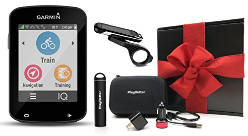 Garmin Edge 820 GIFT BOX | Bundle with PlayBetter Portable USB Charger, Car & Wall Charging Adapters, Hard Carrying Case, Bike Mounts, USB Cable | Touchscreen GPS Bike Computer | Black Gift Box by PlayBetter