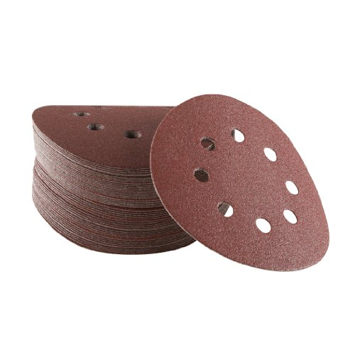 Bosch SR5R105 50-Piece 100 Grit 5 In 8 Hole Hook-And-Loop Sanding Discs