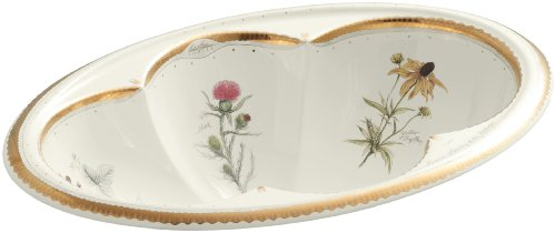 KOHLER K-14271-WF-96 Prairie Flowers Design on Cantata Self-Rimming Bathroom Sink, (Kohler Prairie Flowers)