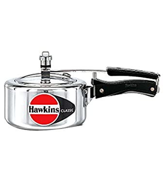 HAWKIN Classic CL15 1.5-Liter New Improved Aluminum Pressure Cooker, Small, Silver
