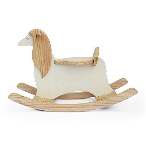Handmade Wooden Ride On Rocking Dog Afghan Hound Animal Design -
