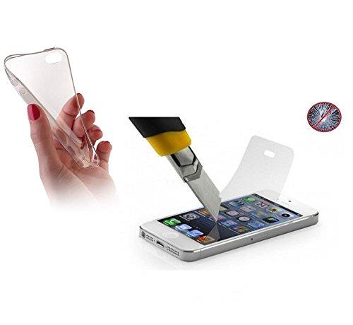 Ultra Slim Trasparente + Pellicola protettiva in vetro temperato per Apple Iphone 74,7Apple iPhone 7Case Cover Case Cover in Silicone
