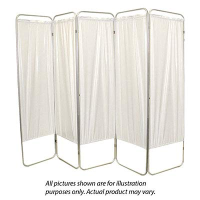 Standard 5-Panel Privacy Screen - Green 6 Mil Vinyl, 84'' W X 68'' H Extended, 19'' W X 68'' H X4'' D Folded - 1 Each / Each - 65-0103G