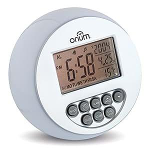 Orium 11211 - Despertador de esfera luminosa y sonidos naturales