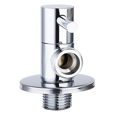válvula de ángulo Suministros de limpieza y saneamiento WYFC Contemporáneo del canalón estándar central envolvente con latón válvula de solo manejar un agujero para grifería de cocina cromo