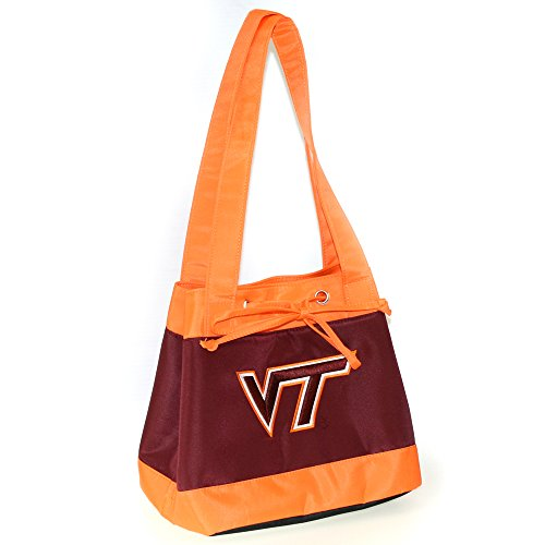 (NCAA Virginia Tech Hokies Fashion Lunch Bag with Embroidered Logo)