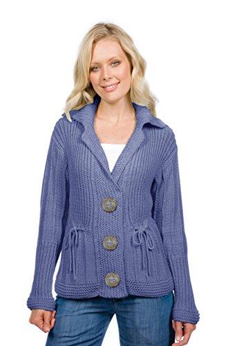 Donna Cardigan Blue Light Handknit Pure aq5Cww