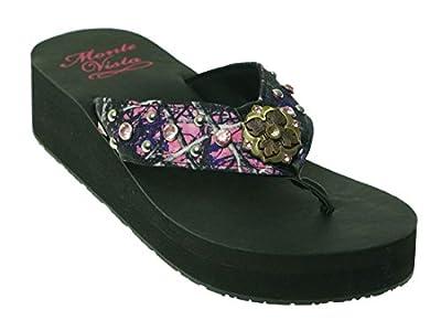 Monte Vista Muddy Girl Wanda Rhinestone Flip Flop Sandals