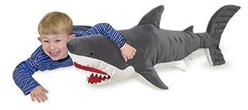 melissa u0026 doug giant shark lifelike stuffed animal over 3 feet long