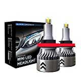 SAWAKU H11/H8/H9/H16 LED Headlight Kits, CSP Chips - 60W 9600LM 6000K-Hi/Lo Beam/Fog Light Bulbs (Pack of 2)