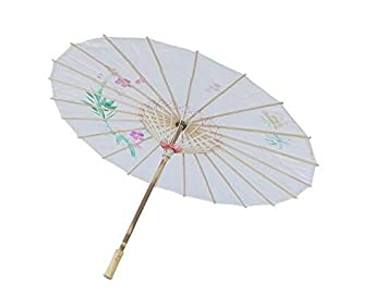 Op.h - Paraguas de Tela de Nailon Natural de bambú para decoración de Baile