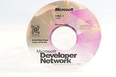 Microsoft Developer Network DDks-Disc #1 Part Number: 99496-Date: October 1997-PC Computer Software Program-Single Replacement Disc