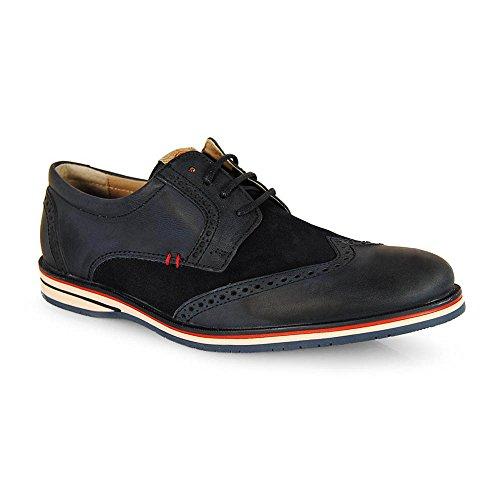 Wisconsin , Chaussures de ville à lacets pour homme bleu marine