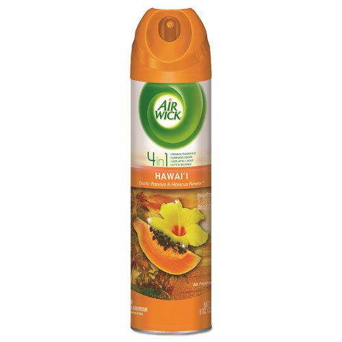 - 4in1 Aerosol Air Freshener,8oz Can, Hawaii Exotic Papaya/hibiscus Flower,12/ctn
