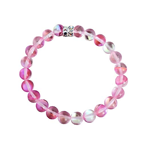 Stretch bracelet. clear crystal and silver beads Earrings and bracelet pink Light weight