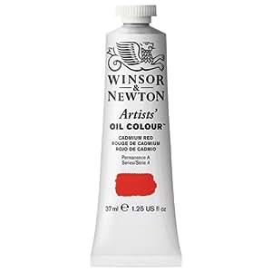 Winsor & Newton Artists Oil Color Paint Tube, 37ml, Cadmium Red