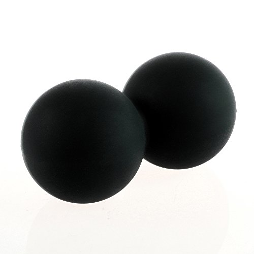 Fronnor Massage Ball Fitness Peanut Ball Crossfit Therapy Gym Relax Exercise Lacrosse Ball For Yoga(Black)