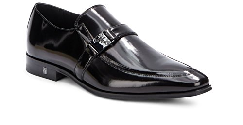 Versace Patent Leather - Versace Collection Men's Leather Oxford Shoe, Black, 41 EU/ 8 US