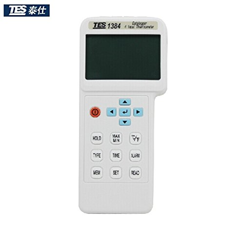 TES-1384 4 Input Thermometer,Datalogger with thermocouple K, J, E, T, R, S, N, L, U, B, C types.