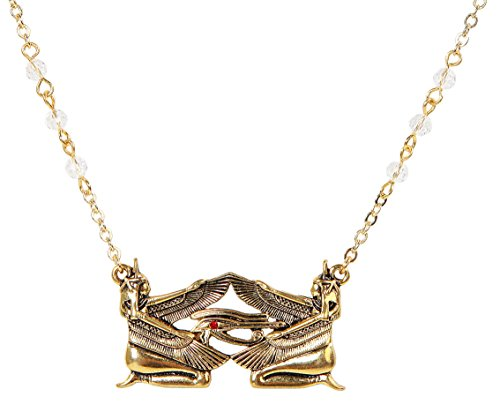 PTC Jewel Accented Egyptian Isis Metal Pendant with Chain Necklace